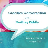 VIRTUAL- Creative Conversation: Godfrey Riddle presented by Arts Council of Johnson County at Online/Virtual Space, 0 0