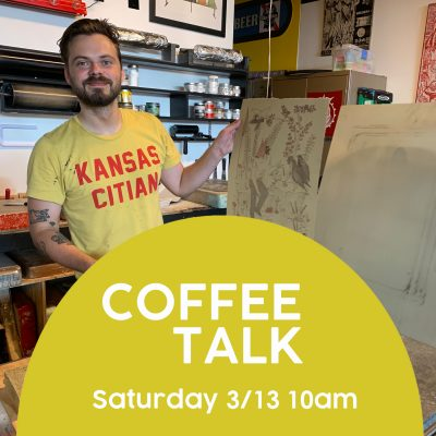 VIRTUAL – COFFEE TALK ft Artist Emmett Merrill presented by Kansas City Artists Coalition at Online/Virtual Space, 0 0