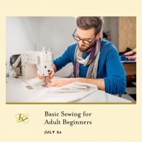 Basic Sewing for Adult Beginners presented by Rightfully Sewn at ,