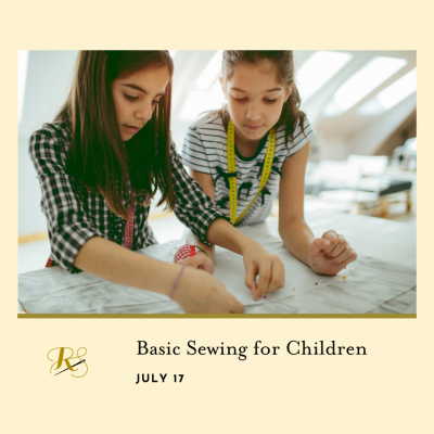 Basic Sewing for Children presented by Rightfully Sewn at ,