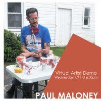 VIRTUAL-  Artist Demo with Paul Maloney presented by Kansas City Artists Coalition at Kansas City Artists Coalition, Kansas City MO