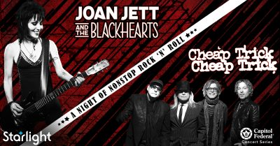 Joan Jett & the Blackhearts and Cheap Trick presented by Starlight at Starlight Theatre, Kansas City MO