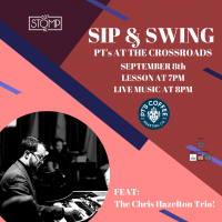 Sip & Swing – Swing Dance at The Crossroads presented by 627 Stomp at ,