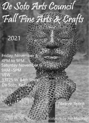 De Soto Arts Council Fall Fine Arts & Crafts Fair 2021 presented by De Soto Arts Council at ,