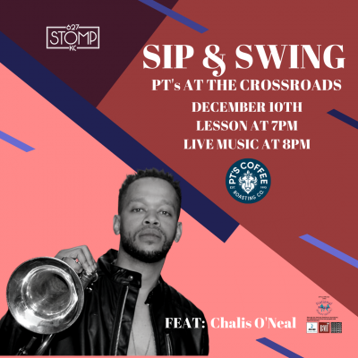 Sip & Swing – Swing Dance at The Crossroads feat: Chalis O'Neal presented by 627 Stomp at ,
