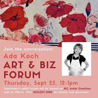 Ada Koch Art/Biz Talk presented by GUILDit at Kansas City Artists Coalition, Kansas City MO